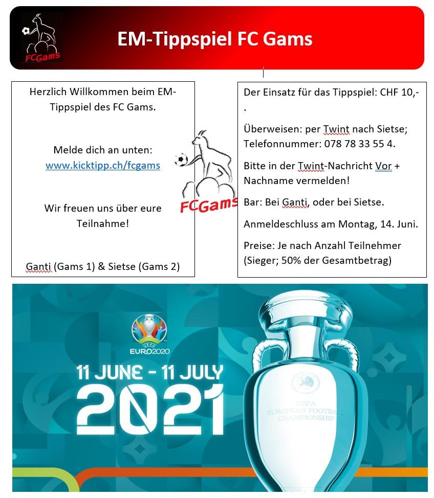 EM-Tippspiel FC Gams